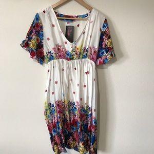 Reborn- Boho floral dress
